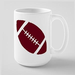 FOOTBALL *1* {crimson} Large Mug