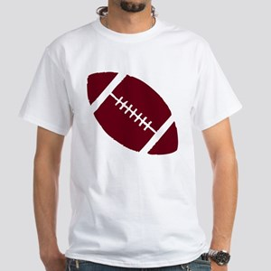 FOOTBALL *1* {crimson} White T-Shirt