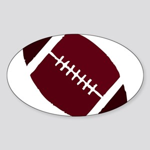 FOOTBALL *1* {crimson 2} Sticker (Oval)