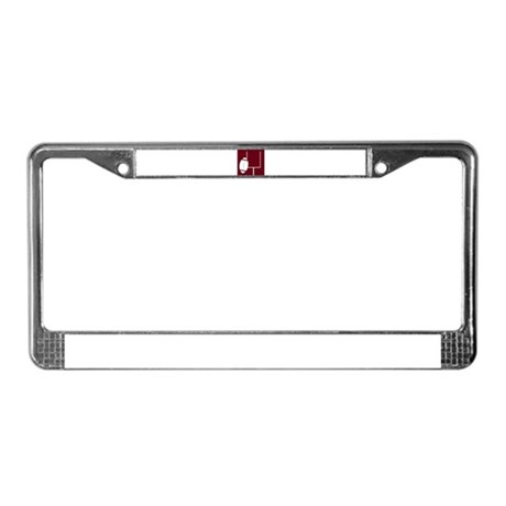 FOOTBALL *3* {crimson} License Plate Frame