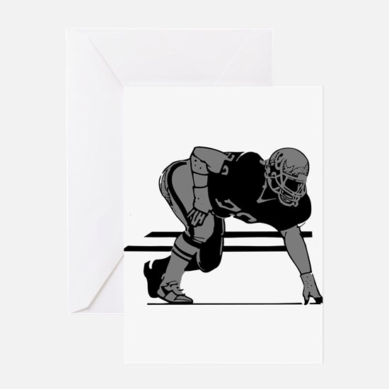 FOOTBALL *6* {gray} Greeting Card