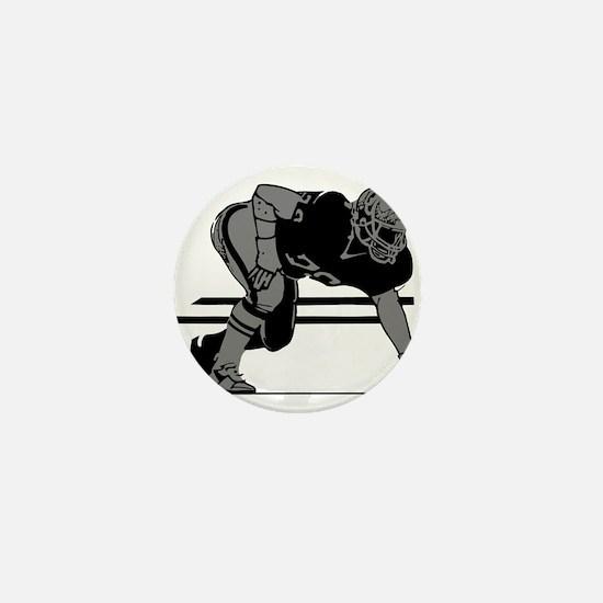 FOOTBALL *6* {gray} Mini Button