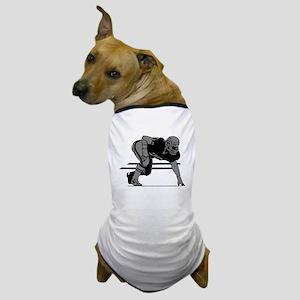 FOOTBALL *6* {gray} Dog T-Shirt