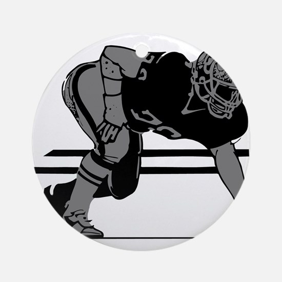 FOOTBALL *6* {gray} Ornament (Round)