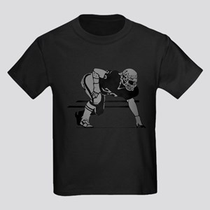 FOOTBALL *6* {gray} Kids Dark T-Shirt