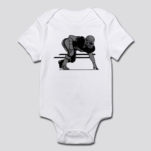 FOOTBALL *6* {gray} Infant Bodysuit