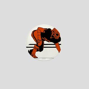 FOOTBALL *6* {orange} Mini Button