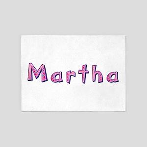 Martha Pink Giraffe 5'x7' Area Rug