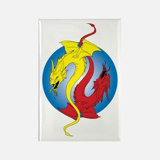 2 Dragons Rectangle Magnet