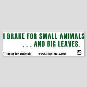 I brake Bumper Sticker