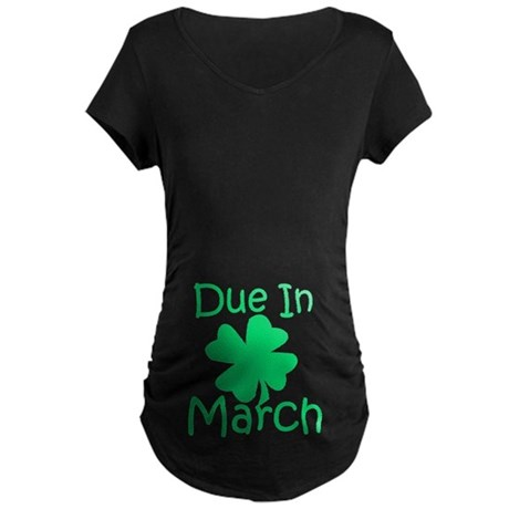 Due In March - Lucky Maternity T-Shirt (dark)