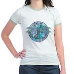 Cool Celtic Dragonfly Jr. Ringer T-Shirt