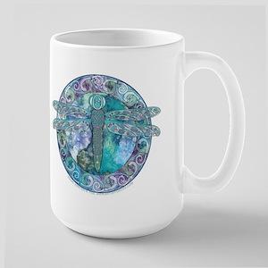 Cool Celtic Dragonfly Large Mug