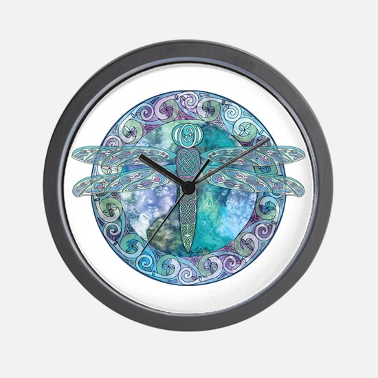 Cool Celtic Dragonfly Wall Clock
