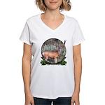 bow hunter, trophy buck Women's V-Neck T-Shirt