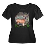 bow hunter, trophy buck Women's Plus Size Scoop Ne