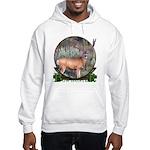 bow hunter, trophy buck Hooded Sweatshirt