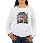bow hunter, trophy buck Women's Long Sleeve T-Shir
