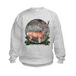 bow hunter, trophy buck Kids Sweatshirt