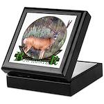bow hunter, trophy buck Keepsake Box