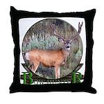 bow hunter, trophy buck Throw Pillow