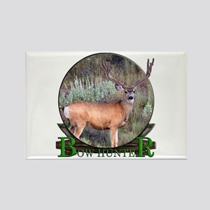 bow hunter, trophy buck Rectangle Magnet