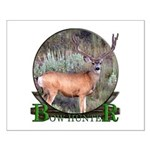 bow hunter, trophy buck Small Poster