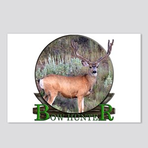 bow hunter, trophy buck Postcards (Package of 8)