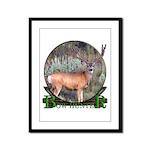 bow hunter, trophy buck Framed Panel Print