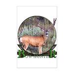 bow hunter, trophy buck Mini Poster Print
