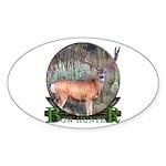 bow hunter, trophy buck Sticker (Oval 10 pk)