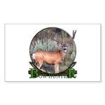 bow hunter, trophy buck Sticker (Rectangle 10 pk)