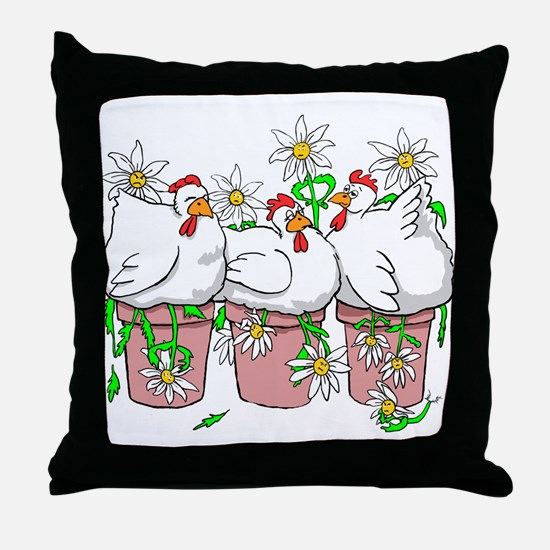 Chicken In Every Pot Throw Pillow