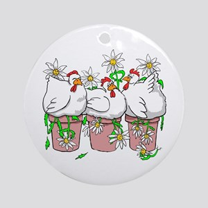 Chicken In Every Pot Ornament (Round)