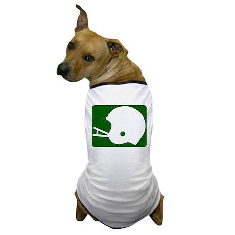 FOOTBALL *8* {green} Dog T-Shirt