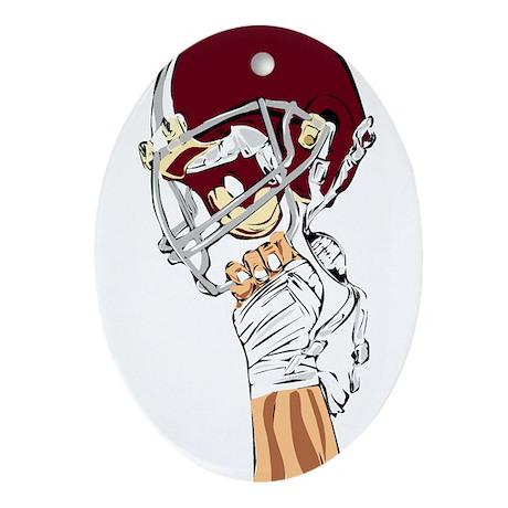 FOOTBALL *13* {crimson} Ornament (Oval)
