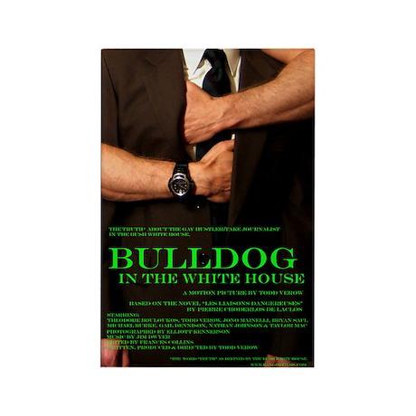 Bulldog in the White House Rectangle Magnet (100 p