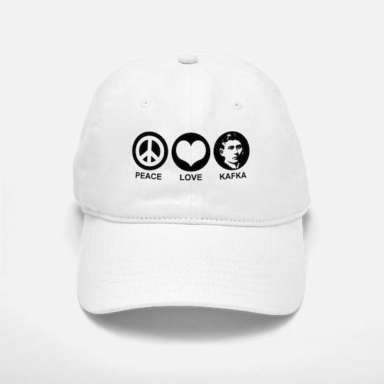 Peace Love Kafka Baseball Baseball Cap