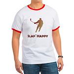 Red Slap Happy Ringer T