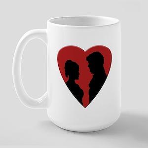 Jane Austen PP2 Lizzy & Darcy Large Mug