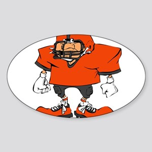 FOOOTBALL *20* {orange/gray} Sticker (Oval)