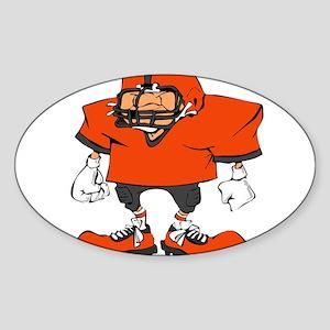 FOOOTBALL *20* {orange/gray} Sticker (Oval)