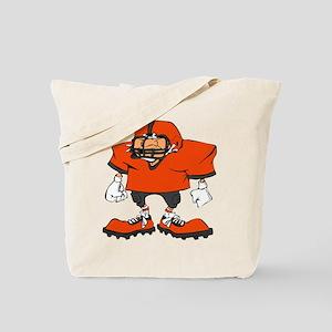 FOOOTBALL *20* {orange/gray} Tote Bag