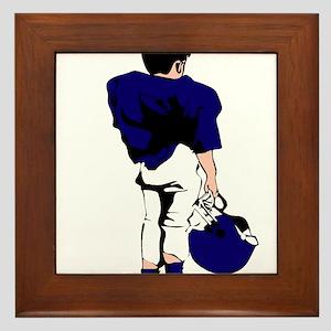 FOOTBALL *22* {blue} Framed Tile