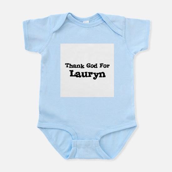 Thank God For Lauryn Infant Creeper