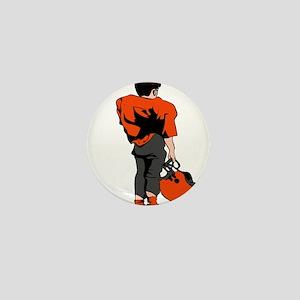 FOOTBALL *22* {orange/gray} Mini Button