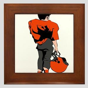 FOOTBALL *22* {orange/gray} Framed Tile