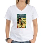 """Foolish Pale-Face"" Women's V-Neck T-Shirt"