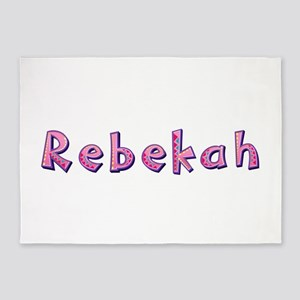 Rebekah Pink Giraffe 5'x7' Area Rug