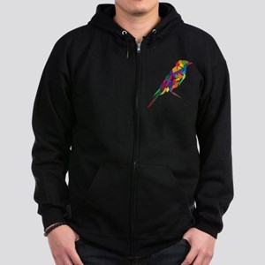 Abstract Bird Zip Hoodie (dark)